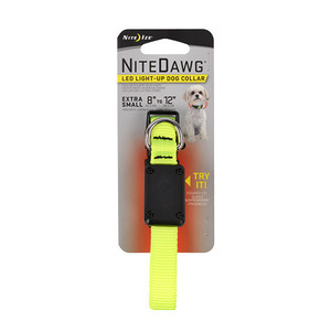 LIGHT UP DOG COLLAR / NEON GREEN