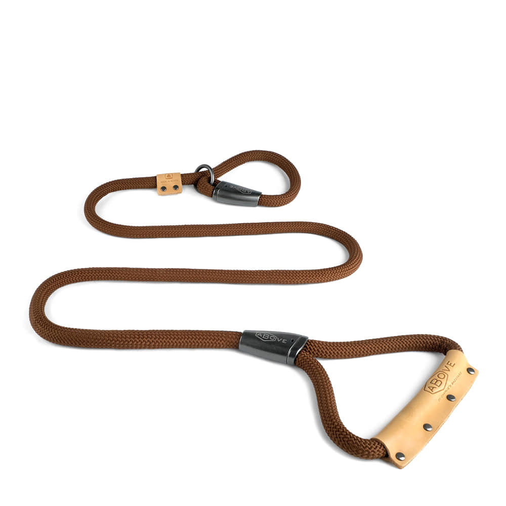 ABOVE SLIP LEASH / BROWN