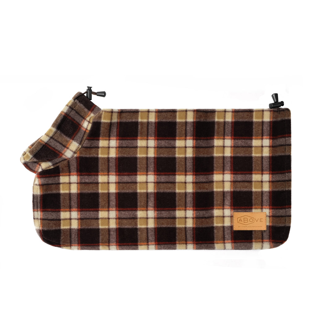 ABOVE PONCHO COAT / BROWN CHECK